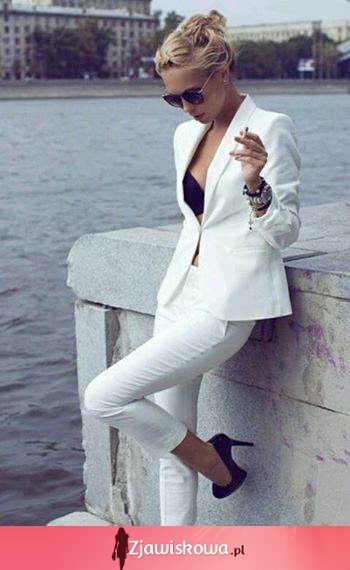 White suit for women