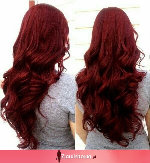 Beautiful bordo hair