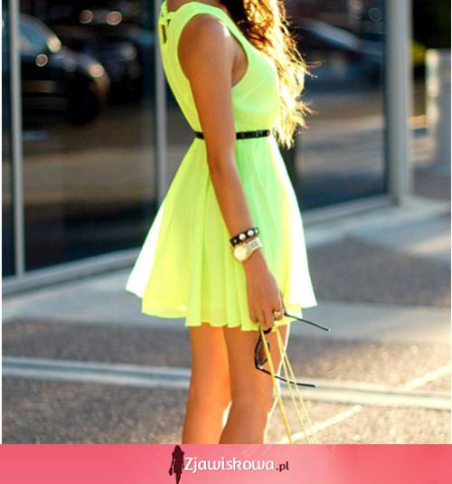 34d541430d Zjawiskowa.pl - Neonowa sukienka na lato