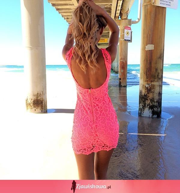 ea84998527 Zjawiskowa.pl - Neonowa różowa sukienka na lato