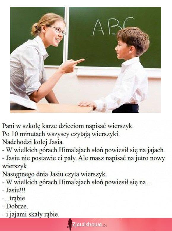 Zjawiskowapl Kawał Pani W Szkole Kazała Napisać Dzieciom