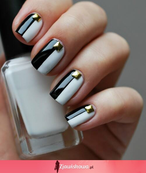Black and white manicure ;)